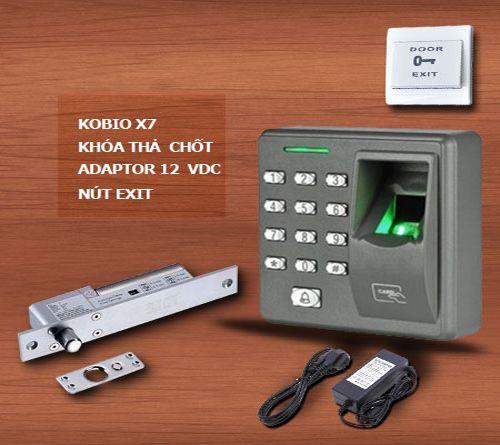 Bộ sản phẩm kiểm soát ra vào dùng vân tay Kobio X7